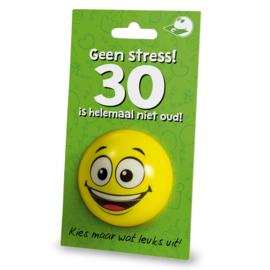 Cadeaukaarthouder stressball - 30 jaar