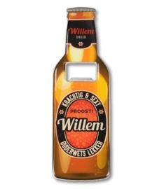 Magneet fles opener - Willem