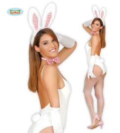 Set bunny (tiara, staart en strik)