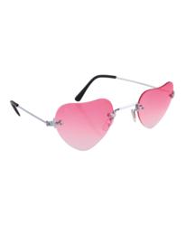 Bril hartvorm roze