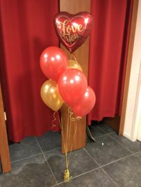 Complete tros heliumballonnen Valentijn