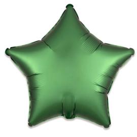 Folieballon ster satin emerald (43cm)