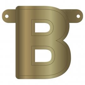 Banner Letter B Metallic Gold