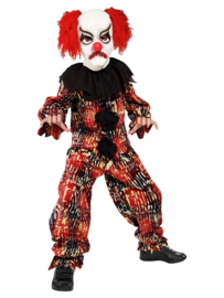 Clown Scary incl. masker mt. L