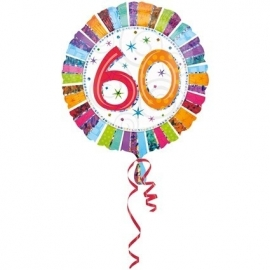 Folieballon   60 Bday radiant