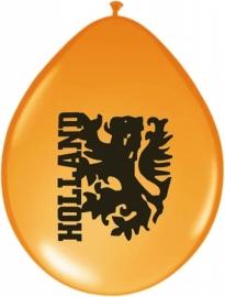 Ballonnen 23 cm oranje met leeuw