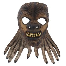 Masker latex wolf met handen