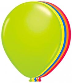 Ballonnen 8st. Neon Assorti
