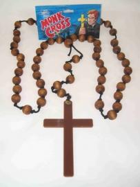 Kruis met kralen ketting