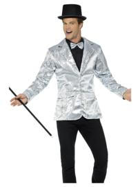 Colbert pailletten zilver mt. M