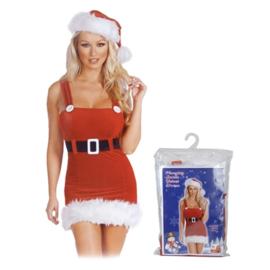 Kerstjurk met kerstmuts one size