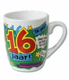 Mok cartoon 16 jaar