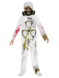 Jumpsuit BioHazard met gasmasker mt. L (145-158)