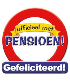 Verkeersbord Officieel met pensioen!