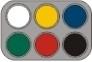 Grimas waterpalet 6 kleuren