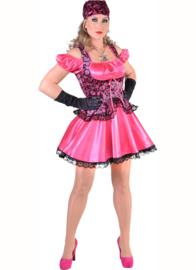 Piraat dame kort roze mt. M