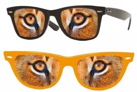 Bril leeuwenogen oranje