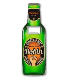 Magneet fles opener - Robin
