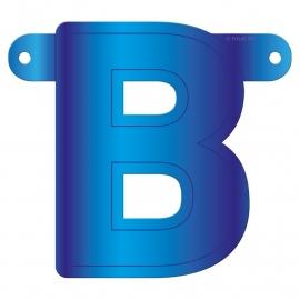 Banner Letter B Blue