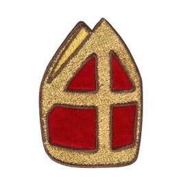 Borduursel Sint mijter 5cm (baret)