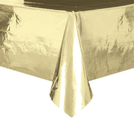Tafelkleed plastic goud folie 137x274cm
