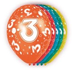 Ballonnen 5st.  3 jaar HE 30cm