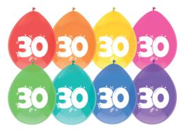 Ballonnen 8st. cijfer 30
