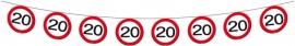 Vlaggenlijn Papier Verkeersbord 20