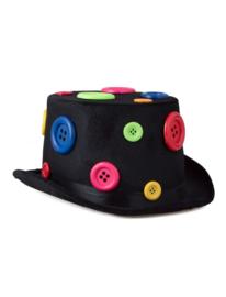 Hoge hoed met knoopjes