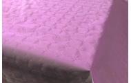 Tafelkleed damast lichtroze 8m x 118cm