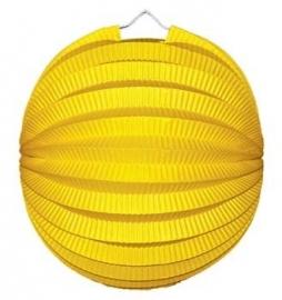 Lampion rond geel 23cm