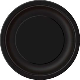 Borden 22 cm zwart 8st.