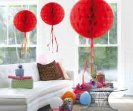 Honeycomb bal rood 30cm