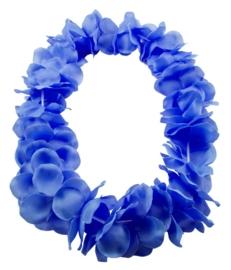 Hawaï krans neon blauw, diam. bloem 9,5
