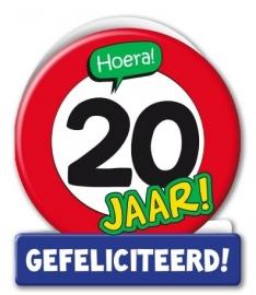 Wenskaart Verkeersbord 20 jaar