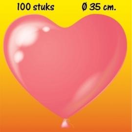 Hart Ballon roze H-15 zak van 100