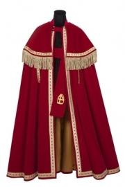 Sint mantel TV fluweel (Stefan), rood