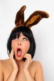 Diadeem konijnen oren bruin