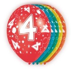 Ballonnen 5st.  4 jaar HE 30cm