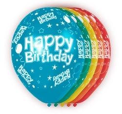 Ballonnen 5st. Happy Birthday HE 30cm