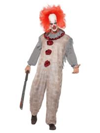 Clown Vintage grijs/rood mt. L