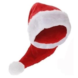 Kerstmuts de luxe pluche 70cm