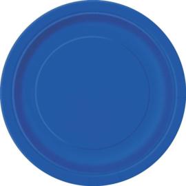 Borden 17 cm donkerblauw 8st.