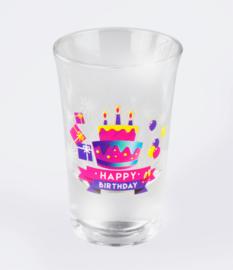 Happy shot glasses - Happy birthday (6 st.)