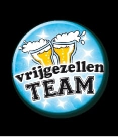 Button Vrijgezellen Team man