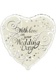 Folieballon With love on your weddingday