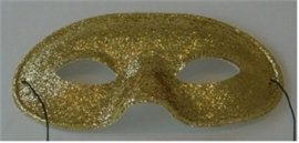 Domino adulto glitter goud