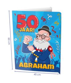 Window sign - Abraham 50 jaar