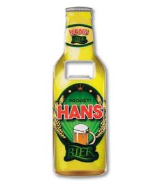 Magneet fles opener - Hans
