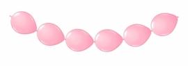 Knoopballonnen licht roze 3 mtr/8 st.
